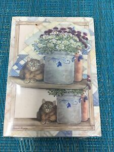 Legacy Publishing Group Little Mini Grocery Pad Magnet cat Flowers New A5