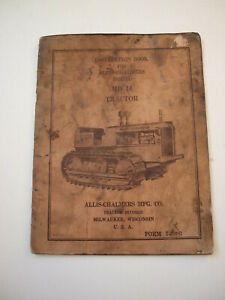 Allis chalmers A c Hd14 Hd 14 Crawler Tractor Operator s Manual Instruction Book