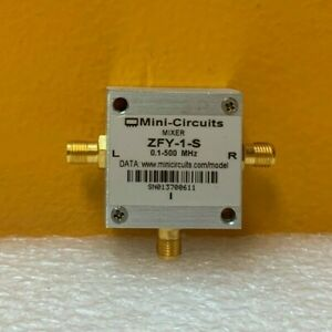 Mini circuits Zfy 1 s 0 1 To 500 Mhz 23 Dbm Sma f Frequency Mixer Tested