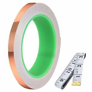 Daoki Double sided Conductive Copper Foil Tape 5mm 0 2inch X 30m 98ft 0 05mm