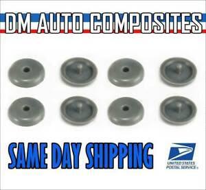 Snaps On 4 Seat Belt Button Buckle Stop Universal Fit Stopper Kit In Gray