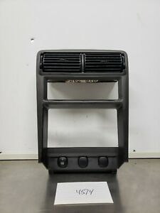 1994 2004 Ford Mustang Center Dash Double Radio Trim Bezel Panel Charcoal Gray