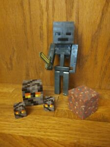Minecraft NETHER Action Figure Toy Lot Wither Skeleton Magma Cubes $25.00