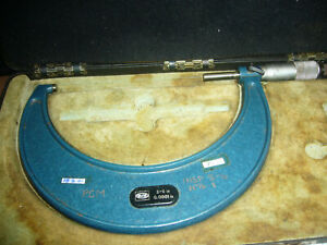 Moore Wright Vintage O s Micrometer 966b 5 6 0 0001 Accuracy Case 5974