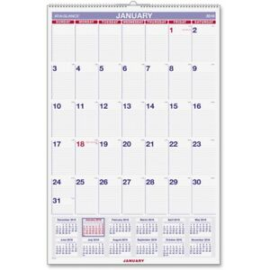 At A Glance Aagpm428 20 X 30 In Recycled Monthly Wall Calendar