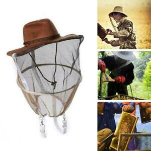 Beekeeping Beekeeper Cowboy Hat Mosquito Bee Insect Face Veil Net Protector V5j1