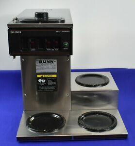 Bunn Vp17 3 Coffee Maker With Lower Warmers Works 3785