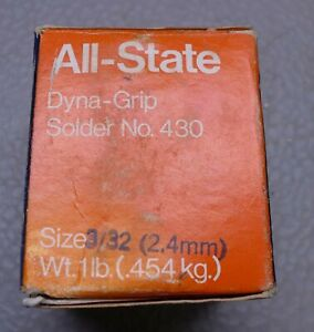 1lb Roll All State Dyna Grip 430 Silver Bearing Solder 3 32