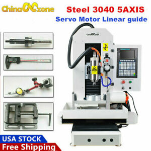 Dsp Steel 5 Axis Cnc Router Servo Motor Engraver 3d Cnc Milling Machine 2200w