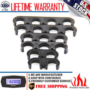 7mm 8mm Black Plastic Spark Plug Wire Separators Dividers Looms For Chevy Ford