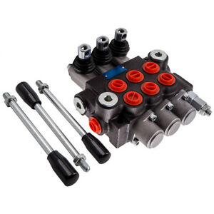 3 Spool Hydraulic Directional Control Valve 11gpm Double Acting Cylinder 3600psi