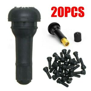 Black Tr413 Snap In Tire Valves Stems Short Rubber Industrial Vacuum Assembly