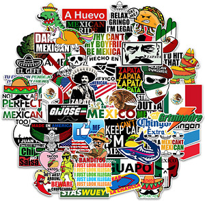 50 Hard Hat Stickers Mexican Tool Box Sticker Pack Mexico Funny Vinyl Decals