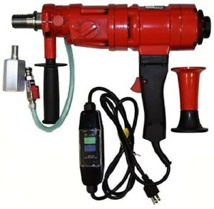 Virginia Abrasives 3 speed Core Drill Rig 1 6 Inch 1 1 4 Spindle 433 20000