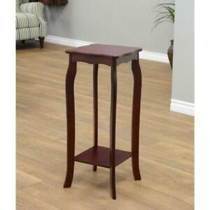 Homecraft Furniture End Table 30 In X 11 8 In Wood Composite Walnut