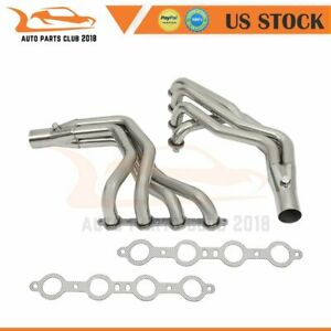 For 1979 1993 Ford Fox Body Mustang Ls Swap V8 T 304 Exhaust Headers Manifold