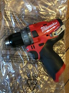 Milwaukee 2504 20 M12 Fuel Brushless 1 2 Hammer Drill tool Only