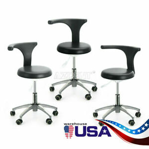 3pcs Dental Doctor Pu Leather Medical Assistant Stool Adjustable Mobile Chair