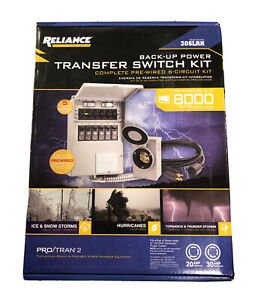Reliance Controls 6 circuit Backup Power Transfer Switch Kit 306lrk New