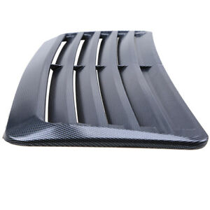 Carbon Fiber Look Print Scoop Intake Vent Car Universal Front Hoods Vent Cover Fits 2005 Ford Mustang