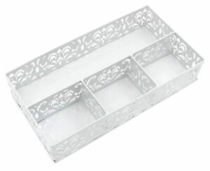 Easypag Desk Drawer Organizer With 3 Small Bins And 1 Long Binwhite