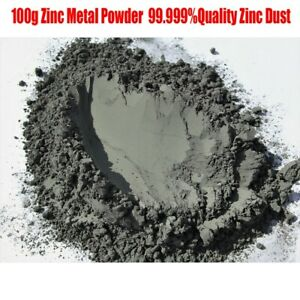 Details About 100g High Purity 99 9 Zinc Zn Pure Metal Grain Powder Dust Useful