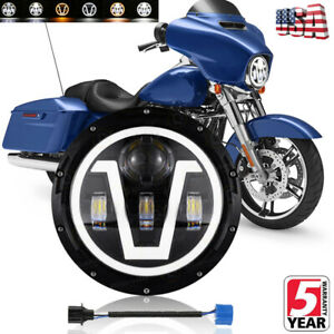 7 Inch Halo Led Headlight Motorcycle Projector For Harley Dyna Cafe Racer Bobber