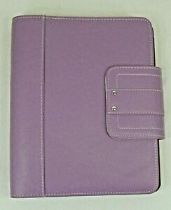 Day timer Family Plus Planner 7 Rings Light Purple Faux Leather Binder Organizer