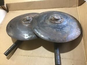 Pair Of Ih Farmall Cultivator Hilling Disk