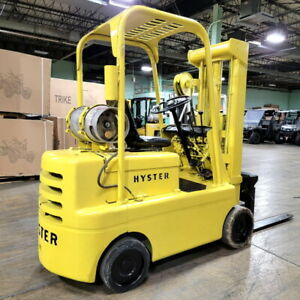 Hyster Forklift 6 000 Lift Cap Heavy Duty Propane Forklift With 2660 Hrs 3 S