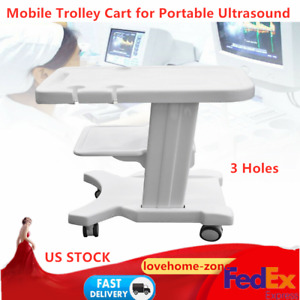 Trolley Cart Mobile Roll Wheel Ultrasound Stand For Portable Ultrasound Scanner