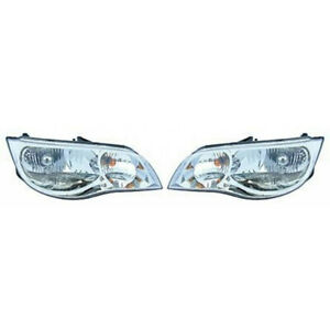 For Saturn Ion Headlight 2003 2007 Pair Driver And Passenger Side Gm2502239 Fits 2004 Saturn Ion