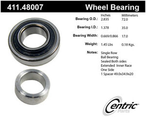 Drive Axle Shaft Bearing Assembly Premium Bearings Rear Centric 411 48007