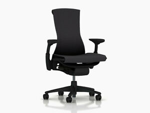 Embody Office Desk Chair by Herman Miller Carbon Balance Fabric Blemish