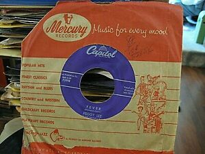 Peggy Lee 45 Fever You Don#x27;t Know 1958 Capitol Vinyl .. VG CLEAN $6.49
