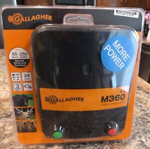 Gallagher M360 G323504 3 6 Joule 110v Electric Fence Energizer New Sealed