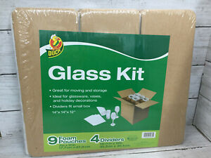 Duck Glass Shipping Kit Boxes 9 Foam Pouches And 4 Dividers 14 X 14 X 12 New