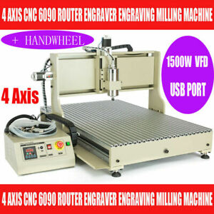 1 5kw Usb 4axis 6090 Cnc Router Engraver 3d Engraving Milling Machine controller