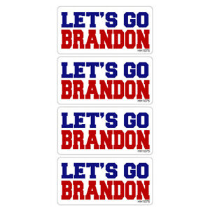 Hard Hat Let s Go Brandon Stickers 4 Pack funny Vinyl Decal Tool Box Fjb Hh1075