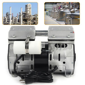 Double cylinder Oil Free Oilless Piston Compressor High Flow Vacuum Air Pump Usa