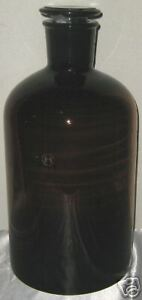 Glass Amber Lab Reagent Bottle Narrow Mouth 10l New