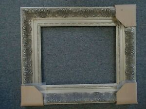 Picture Frame 16x20 Shabby Chic Antique Style Ornate Baroque Gray Silver 1360s