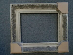 Picture Frame 12x16 Shabby Chic Antique Style Ornate Baroque Gray Silver 1360s