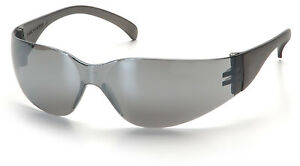 48 Pair 1700 Series Silver Mirror Lens Safety Glasses