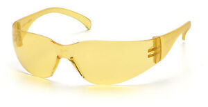 48 Pair 1700 Series Amber Lens Safety Glasses