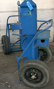 Large Welding fire Supression Compressed Gas Tank Cart