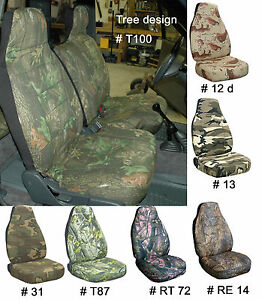 Ford Ranger 60 40 Bench Car Seat Covers Camouflage Tree Choose Color