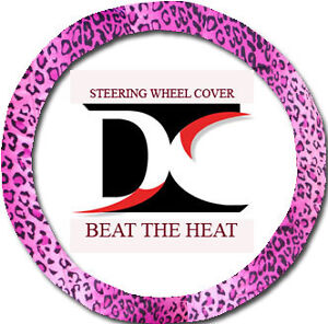 Cool Pink Leopard Steering Wheel Cover Goodquality nice
