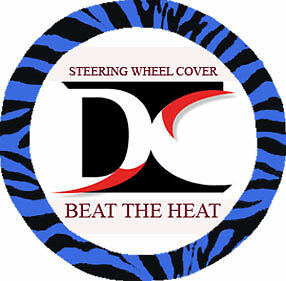 Cool Zebra Blue Steering Wheel Cover Goodquality Soft