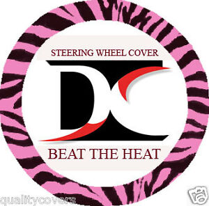 Cool Zebra Pink Steering Wheel Cover Goodquality Soft